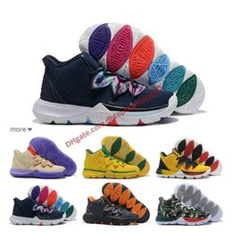 42b14a2ecd75 2019 new Kyrie Taco Black Magic Sky star Mens Basketball Shoes Chaussures  5s 5 Men Rainbow Black White Sports Sneakers Size US 7-12