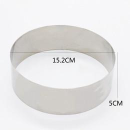 $enCountryForm.capitalKeyWord UK - 6 Inches Stainless Steel Mousse Circle Round Shape Fondant Cake Mold Mousse Ring Cake Baking Mold