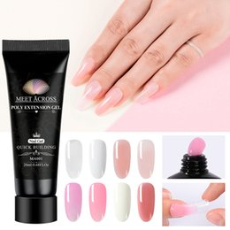 $enCountryForm.capitalKeyWord NZ - MEET ACROSS 20ml Poly Extension Gel Acrylic Builder Nail Pink White Crystal UV Builder Nail Art Poly Varnish Gel Manicure