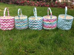 $enCountryForm.capitalKeyWord Australia - Easter basket dot chevron tote bucket for kids new 6 designs Easter egg gift bag W9458