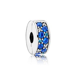 $enCountryForm.capitalKeyWord UK - NEW 100% 925 sterling silver 1:1 Genuine Gem 791817NSBMX BLUE MOSAIC SHINING ELEGANCE Fit DIY Bracelet Original Women Wedding