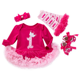 f0a7d14f11fc Baby Birthday Clothing Sets 2019 Outfits Bebes Romper Dress First Costumes Lace  Tutu Dress Newborn Toddler Infant Clothing Sets J190427