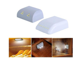 infrared wardrobe light Australia - Battery LED Night Lamp PIR Infrared Motion Sensor Light Kitchen Inner Hinge Drawer Cupboard Wardrobe Closet Under Cabinet Light