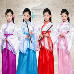ancient chinese silver Australia - Hanfu Ancient Chinese Cosplay Costume National Hanfu Outfit Stage Dress Folk Dance Costume
