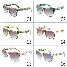 Occhiali da sole per bambini Stampa leopardo Cornice Cool Kids Occhiali da sole Eyewear Baby Kids travel occhiali da sole eyewear 6 colori LJJK1556 in Offerta