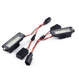 $enCountryForm.capitalKeyWord Australia - 2Pcs 12V LED Number License Plate Light Lamps for VW GOLF 4 5 6 7 Polo 6R Car Exterior Accessories License Plate Lights
