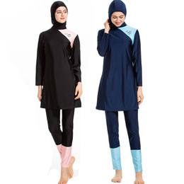 $enCountryForm.capitalKeyWord Australia - Hijab Islamic Swimsuit Modest Girls Muslim Swimwear Arabic Women Plus Size Clothing Full Cover 3pcs Bathing Suit Size S-4XL