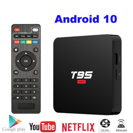 ott tv box android player 2021 - Android 10 TV Box T95 Super Smart Android TV Box Allwinner H3 GPU G31 2GB DDR3 RAM 16GB 2.4G WiFi HD OTT Media Player