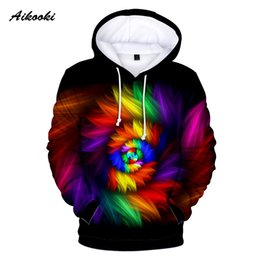 75ba99e4722 2018 New Style Flashbacks 3D Hoodies in Men colorful psychedelic Tie dye color  3d print Women Men popular Winter Casual Clothes