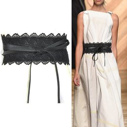 Band Belts Australia - 2018 New Black White Wide Corset Lace Belt Female Self Tie Obi Cinch Waistband Belts for Women Wedding Dress Waist Band
