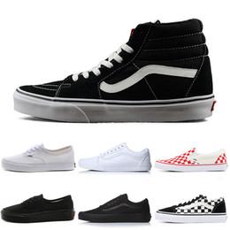 3ebf80b9c814c3 Vans Fear of God Old Skool Authentic Canvas Skate Shoes Designer Mens Women  Slip-on Tripl Black White Trainer Casual Sports Sneakers 36-44