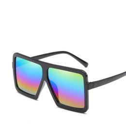 77ba7f53ddfe Fashion Designer Sunglasses Vintage Lady Square Sunglasses Women Mirror  Eyewear Flat Top Big Frame Sun Glasses Female Oversize Glasses