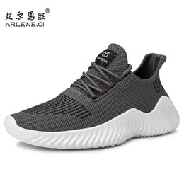 lace tennis shoes Canada - 2020 Men Tennis Shoes Breathable Mesh Sport Shoes Male Comfortable Lace-Up Outdoor Stability Jogging Sneakers Plus Szie 39-47