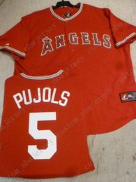 $enCountryForm.capitalKeyWord Australia - Cheap Retro custom ALBERT PUJOLS Jerseys RED Stitch customize any number name MEN Jerseys XS-5XL