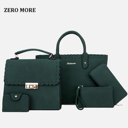 5pcs set handbags online shopping - 5pcs Hollow Out Women Bag Set Fashion Women Handbag Pu Leather Shoulder Bags Crossbody Messenger Bag Small Purse Clutch