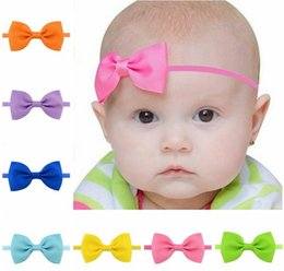 Gifts For Infant Girls Australia - Baby cute Bowknot Headbands Hairbands Hair Elastics Band for Baby Girls Newborn Infant Hairband Hair Accessories Birthday Gift 705