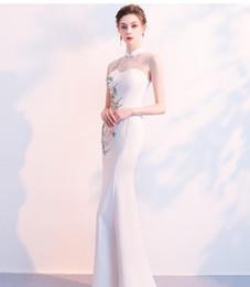 Cheap Xl Wedding Dresses NZ - 2019 white Cheap Bridesmaid Dresses Sexy V Neck High Side Split Maid of Honor Wedding Guest Dress robes formal dress