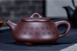 yixing purple teapot Australia - Chinese yixing zisha teapot handmade Purple sand Clay Stone scoop teapot 220cc