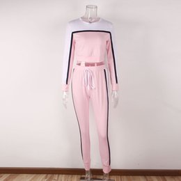 Discount young clothes - Clothing women's spring and autumn pink girl heart young casual sportswear two-piece shirt + trousers jogging sport