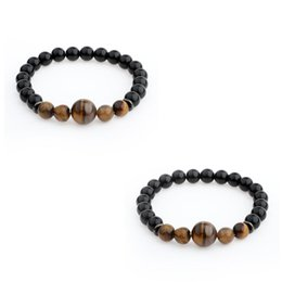$enCountryForm.capitalKeyWord Australia - Fatpig 2018 Hot Natural 8mm Stone Beads Strand Bracelets For Gifts Men Tiger Eye Stone Hand String Bracelets Jewelry Accessories
