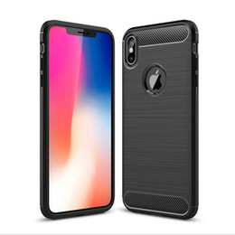 Protection Cases For Iphone 5s Australia - Luxury Brushed Shockproof Carbon Fiber Phone Case For iphone X XS XR XS Max 5 5S 6 6S 7 8 Plus silicone protection Back Cover