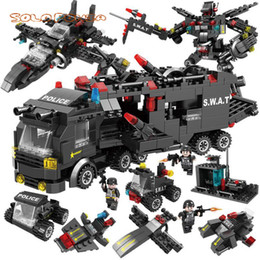 $enCountryForm.capitalKeyWord Australia - 8 In 3 City Police Series Swat Building Blocks Kids Assembling Weapons Aircraft Car Robot Toy Compatible With L Brands MX190731