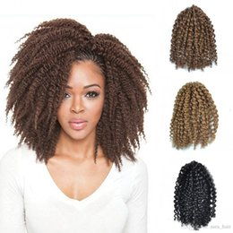 kinky twist hair piece Canada - Sara Afro Kinky Curly Mali Bob Braiding Hair 20CM,8INCH African Braids Hair Extensions Havana Manbo Twist Synthetic Hairpiece 30Roots Pack