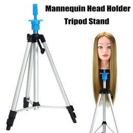 Wholesale Mannequin Head Holder Tripod Stand Adjustable Hairdressing Practice For Salon Barber Hairdresser Hjl2018 SH190727