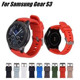 $enCountryForm.capitalKeyWord Australia - Silicone Watch Band 18 Colors Outdoor Waterproof Replacement Bracelet Adjustable Bracelet Smart Wacth Wrist Strap 22mm For Samsung Gear S3