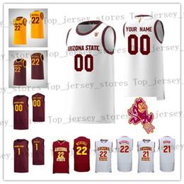 ArizonA stAte jersey online shopping - Custom NCAA Arizona State Sun Devils Any Name Number Jack Roggin Remy Martin Rob Edwards Taeshon Cherry College Basketball Jerseys
