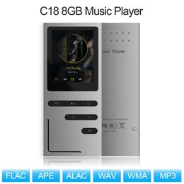 $enCountryForm.capitalKeyWord Australia - C18 8GB MP3 Player HiFi Metal Music Player Loseless APE FLAC Audio Built-in Speaker FM Radio Voice Recording w  TF Card