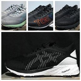 black men sport running shoes Australia - 2018 Wholesale DynaFlyte 2 Racing buffer Running Shoes For Men Black Blue Net surface Athletics Sports Sneakers