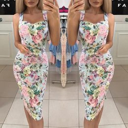 $enCountryForm.capitalKeyWord Australia - 2019 Women's Dresses Spring Summer Dress Womens Summer Print Color Block Sleeveless Dress A-Line Maxi Mini Sundress