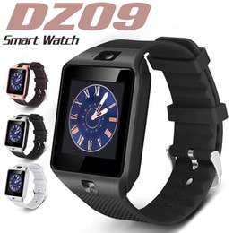 Wholesale smart watches android resale online - Smart Watch DZ09 Smart Wristband SIM Intelligent Android Sport Watch for Android Cellphones relógio inteligente with High Quality Batteries
