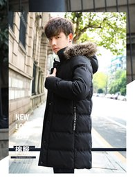 Solid Cotton Shawl Australia - Chaquetas Hombre Mens Winter Jackets Casacos Cotton-padded Jacket Of 2018 Men's Middle And Long Korean Edition, Handsome Winter