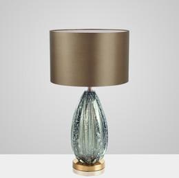 $enCountryForm.capitalKeyWord UK - Modern American Simple Gray Green Glass Table Lamp Villa Living Room Bedroom Study Fashion Creative Bedside table Light