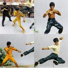 Wholesale Chinese Figures Australia - Bruce Lee Figures Chinese Kungfu Star Doll Collection Toys 4 Sets Cool High Quality Action Hot Sale 25mf D1