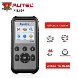 EnginEs transmissions online shopping - Autel ML629 OBD2 Scanner Car Diagnostic Tool for Engine Transmission ABS SRS System Full Code Reader pk Launch CReader