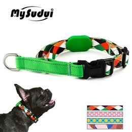 nylon dog chain NZ - Dog Choker Collar Soft Nylon Training Slip Dog Collar Plaid Martingale Strong Slip Choke Chains Reflective For Small Large Dogs Y200515