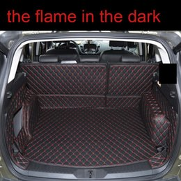 car boot liners UK - for kuga leather car trunk mat cargo liner 2012 2013 2014 2015 2016 2017 2018 2019 escape rug carpet boot luggage