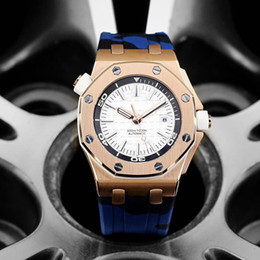 Watch silicone strap online shopping - luxury watch mens designer watches camouflage strap automatic mechanical movement wristwatches rose gold case montre de luxe