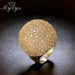 $enCountryForm.capitalKeyWord Australia - Mytys Pave Setting Crystal Luxury Chunky Ring Ball Shape Fashion Gorgeous High Quality Jewelry New Big Rings R1048 R1049 J190627