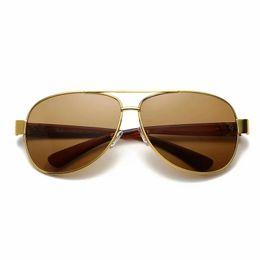 $enCountryForm.capitalKeyWord Australia - High Quality Classic Sunglasses Designer 3378 Brand Mens Womens Sun Glasses Eyewear Gold Metal Frame Green Glass Lenses With Cases ray