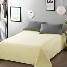 bedsheets bedding Australia - 1 Bed Sheet item Cotton 100% Sheets Soft Sheet Twin Size Hotel Home Bedsheets New More Styles Single Double For Adult and Child