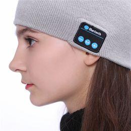 $enCountryForm.capitalKeyWord Australia - Bluetooth Music Knitted Hat Soft Warm Wireless Speaker Receiver Outdoor Sports Smart Cap Headset Headphone For iphone x 8plus Samsung DHL