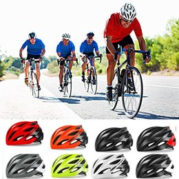 white green road helmet Australia - 2018 Lightweight Bicycle Helmet Breathable Road Racing Helmets Sports Safety All-terrai Cycling Helmet M L Black White