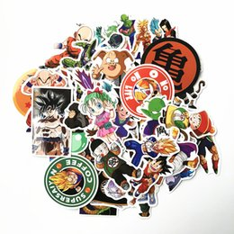 Decals Stickers Pack Australia - 50 pcs pack Mixed Dragon Ball Anime Sticker For Car Laptop Skateboard Pad Bicycle Motorcycle PS4 Phone Decal Pvc Stickers