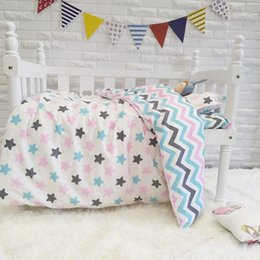 baby beds for girls 2019 - Good Quality Colorful Stars Baby Bedding Set For Girls Pure Cotton Woven Cartoon Crib Bed Linen,Duvet Sheet Pillow, with
