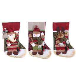 Sock hookS online shopping - Christmas Large Cartoon Socks Candy Bag Christmas Fashion and Good Quality Built in cloth Hook Accommodate a Variety of Gifts