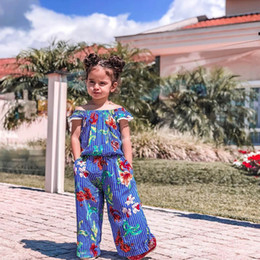 $enCountryForm.capitalKeyWord Australia - Infant Baby Kid Girl Floral Printed Off Shoulder Tops Pants Outfits Set Clothes 2019 NEW Drop Shipping